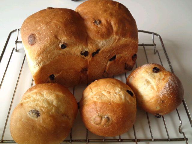 レーズン食パンとレーズンパウンド